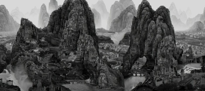 plancius art collection Yang Yongliang Journey to the Far 2017 close